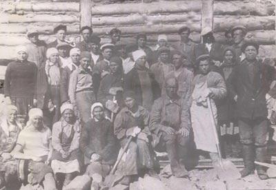 Спецпереселенцы на строительстве Нивских ГЭС