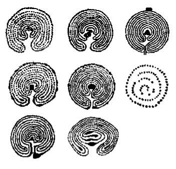 Схемы беломорских лабиринтов