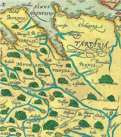 Территория Гардарики. Карта 12 века