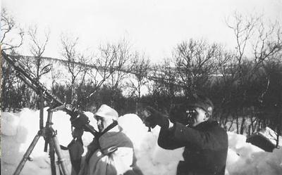 Зенитная установка немцев под Алакуртти