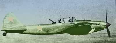Штурмовик ИЛ-2 с воздушным стрелком