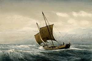 Поморское судно в море