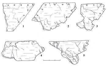 Фрагменты слюды, найденные при раскопках