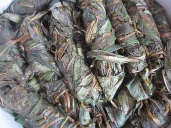 Скрученные листья Иван-чая