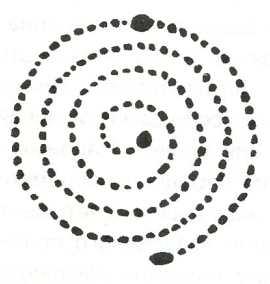 Схема односпирального лабиринта на Соловецком архипелаге.