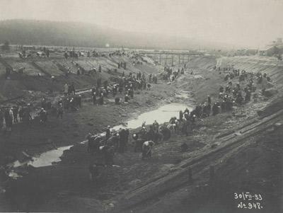 Строительство подводящего канала Нива ГЭС-2