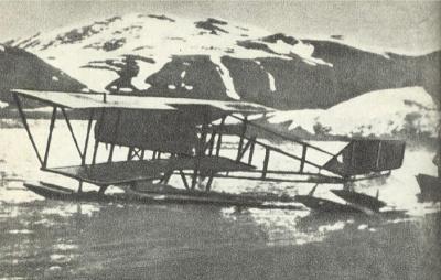 Гидросамолет Нагурского Farman MF.11 в бухте Крестовая губа на Новой Земле.