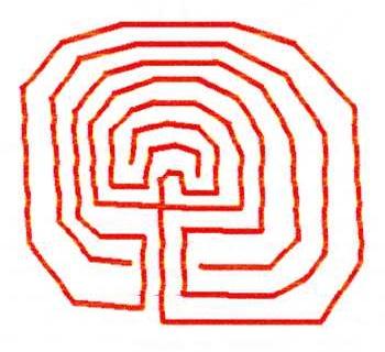 Схема лабиринта критского типа