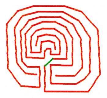 Схема лабиринта северного типа