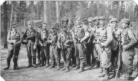 Диверсанты после 5 дней рейда по советскому тылу